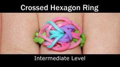 Rainbow Loom® Crossed Hexagon Ring How to Video Tutorial