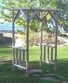 Diy project wooden arbor for your garden (57)