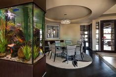 Aquarium - Shadow Hill - modern - dining room - denver - Duet Design Group