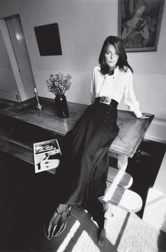 Charlotte Rampling - fashion Yves Saint Laurent - Paris Vogue France - 1970