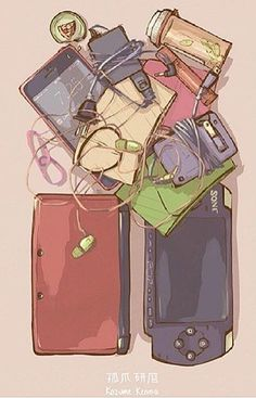 Kozume Kenma's bag || Cables,cables everywhere || Tell me those pills are for headaches caused by Kuroo and not drogs to forget about Kuroo