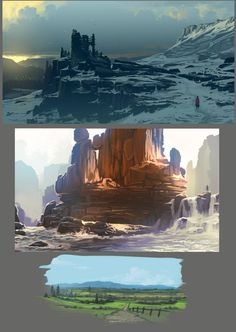 environment sketches, Daniel Conway on ArtStation at https://www.artstation.com/artwork/mWbXZ