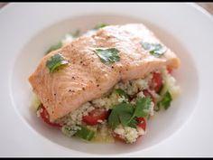 Descubra los secretos de salud de este salmón delicioso y cuscús Ensalada - sanas recetas deliciosas