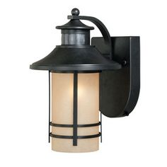 For my back patio: Portfolio�Lloyd 11-5/8-in H Oil Rubbed Bronze Motion Activated Outdoor Wall Light