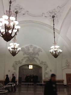 The opulent Moscow Metro