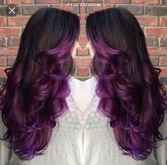 Layered purple ombre hair dyed hair ideas в 2019 г. Platinum Hair Color, Hair Color Purple, Cool Hair Color, Hair Colors, Black Hair Ombre, Dyed Hair Ombre, Black To Purple Ombre, Pastel Ombre, Plum Purple