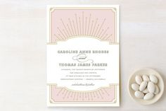 Modern Deco Wedding Invitations by Vellum and Vogue at minted.com