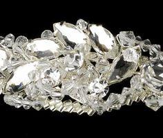 Silver Rhinestone Couture Sensation Bridal Headband - HP 8353