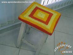 Capa de Crochê para Banqueta Quadrada - Aprendendo Crochê - YouTube