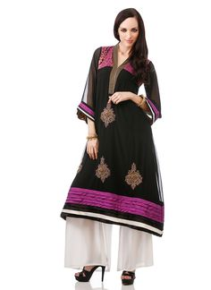 Applique Worked Georgette Kurti