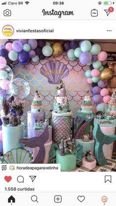 Mermaid Theme Birthday, Little Mermaid Birthday, Little Mermaid Parties, Mermaid Party Decorations, Birthday Party Decorations, Birthday Parties, Birthday Ideas, Party Favors, Party Prizes