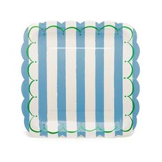 Paper Plates - Blue Stripes {small}