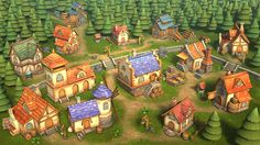 """""""Lowpoly Township Set"""" for Unity Asset Store"""