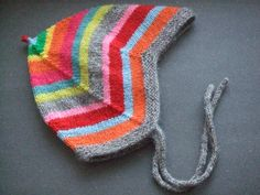 Make this very cute pixie baby cap with a pattern found for free on Ravelry: Norwegian Sweet Baby Cap / Djevellue by Gro. The English translation is on a blog link.