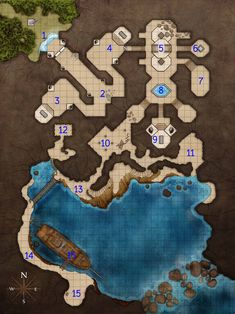 Fantasy Maps by Robert Lazzaretti - Plunder and Peril Adventure module for Pathfinder. Fantasy City, Fantasy Map, Fantasy Battle, Dungeons And Dragons Homebrew, D&d Dungeons And Dragons, Rpg Maker, Pathfinder Maps, Adventure Map, Dungeon Maps