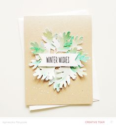 Tutorial: Making a Winter Card with Aga Malyszek