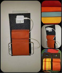 "#phone #charging # wall # holder #diy #felt ""leather"