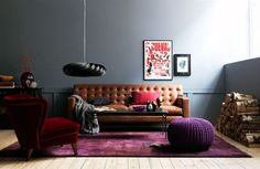 Perfection - everything about this living room is fabulous - especially the pouf!