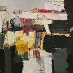 """Work Life Balance (detail)48"""" x 24"""" oil and fabric on canvas #painting #art #contemporaryart #abstract #studio #gallery #artist #contemporarypainting #mixedmedia #artcollector #artistsoninstagram #abstractart"""
