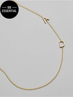 Maya Brenner Asymmetrical Character Necklace, gold