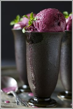 mixed berry and citrus sorbet. making this for company this weekend