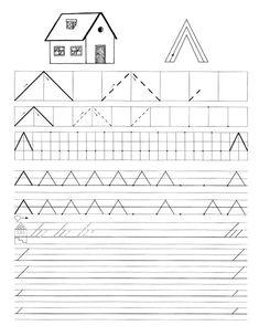 Fotografie: Tracing Worksheets, Preschool Worksheets, Motor Skills Activities, Pre Writing, Album, Relief, Handwriting, School Ideas, Alphabet