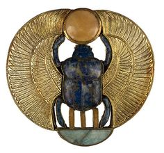 Ancient Egyptian Winged Scarab, 1323 BC,discovered in the tomb of Tutankhamun.