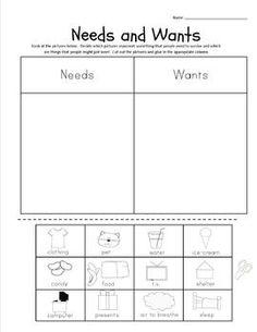 worksheet. Needs And Wants Worksheets. Grass Fedjp Worksheet Study ...