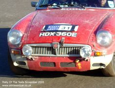 Classic MG MGB GT car on this vintage rally