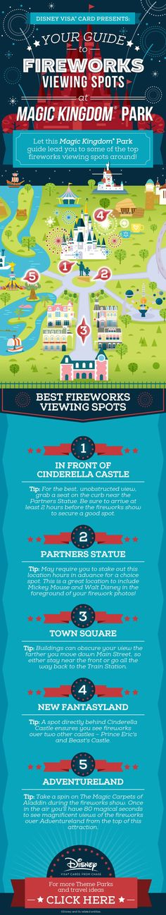 5 Little-Known Spots to View Magic Kingdom® Park Fireworks See some of the best of July fireworks around at Walt Disney World® Resort. This guide to fireworks viewing spots will help you score a prime spot to all the magic! Disney World Resorts, Viaje A Disney World, Disney World Tipps, Disney World 2017, Disney World Florida, Disney Vacations, Disney Worlds, Disney World Hacks, Florida Vacation