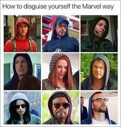 how to disguise yourself Picture memes iFunny How to disguise yourself the Marvel way popular memes on the site Avengers Humor, Marvel Jokes, Funny Marvel Memes, The Avengers, Dc Memes, Marvel Avengers Assemble, Avengers Hoodie, Funny Memes, Disney Marvel