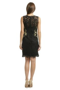 600f75e647 Elie%20Tahari - Gold%20Infused%20Lace%20Sheath Rent Dresses