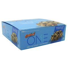 OHYEAH! ONE BAR BOX OF TWELVE - Chocolate Chip Cookie Dough, $24.99
