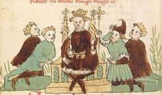 """Rudolf <von Ems> Willehalm von Orlens — Straßburg - """"Werkstatt von 1418"""", um 1420 Cod. Pal. germ. 323 Folio 280v"""