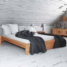 massivholzbett aus kernbuche gelt ohne kopfteil schlafzimmer betten massivholzbetten holz massivholz - Lowprofilekopfteil