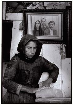 """Greece. Crete. Elounta 1964. Kneading dough. """"A Greek Portfolio"""" p.6 © Costa…"""