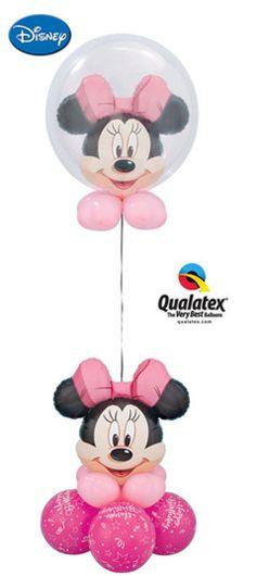 Minnie Mouse Balloon Centerpiece or Floating Balloon Column