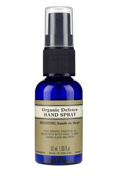 One spray will have you fighting bacteria while breathing in aromatherapy. Neal's Yard Remedies Organics Organic Defense Hand Spray, $10.50, available at Neal's Yard Organics. #refinery29 http://www.refinery29.com/best-luxury-makeup-products#slide-5