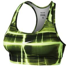 31ef2e87aa We love the glow volt design in this Nike Pro Bra! - Lady Foot. Athletic ...