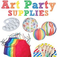 An art theme is one of my favorite party themes art parties are sofun to plan and for kids to go to. Plus the color scheme and party activities are no-brainers which is a huge plus!I collect a lot of art party ideas on . Childrens Party Games, Tween Party Games, Graduation Party Games, Kids Party Themes, Party Ideas, Art Party Decorations, Sleepover Party, Diy Party Crafts, Craft Party