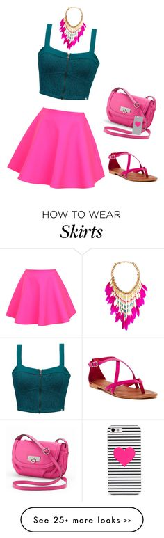 """""""Pink Skater Skirt-UNIF"""" by carlafashion-246 on Polyvore"""