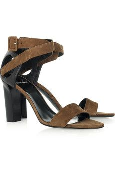 938fe08bf8d Suede and leather sandals by Pierre Hardy Designer Clothes Sale
