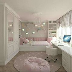 Teenage Girls Bedroom Ideas is part of Dream rooms - Every young girl dreams of a uniquely personal space to call her own, yet nailing down a durable search for a teenage girl's bedroom can be a particularly troublesome undertaking Cute Bedroom Ideas, Cute Room Decor, Awesome Bedrooms, Bedroom Themes, Cool Rooms, Bed Ideas, Trendy Bedroom, Teen Bedroom Colors, Modern Bedroom