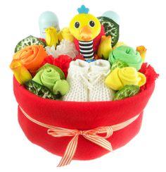 Bright Baby Nappy Cake Bouquet http://www.sayitbaby.co.uk/contents/en-uk/p482_bright-baby-nappy-cake-bouquet-arrangement.html
