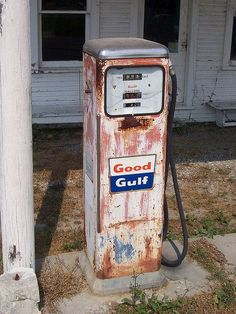Vintage Good Gulf Gas Pump by The Upstairs Room, via Flickr