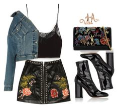 A fashion look from November 2016 featuring Belgique tops, Balenciaga jackets and Valentino ankle booties. Browse and shop related looks. Fav Night look Edgy Outfits, Club Outfits, Summer Outfits, Fashion Outfits, Womens Fashion, Fashion Trends, Fashion Design, Looks Chic, Looks Style