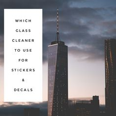Which Glass Cleaner to Use on Stickers & Decals #ad