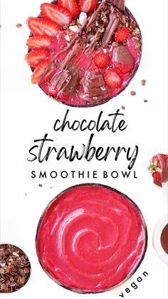 Strawberry Smoothie, Smoothie Bowl, Vegan, Strawberry Milkshake, Vegans