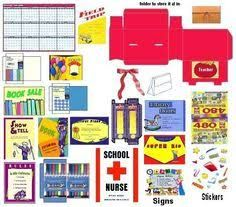 Image result for american girl doll printables school supplies