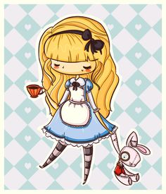 Chibi Disney Alice in Wonderland Disney Pixar, Disney Cast, Disney And Dreamworks, Disney Magic, Disney Characters, Chibi Disney, Walt Disney, Lewis Carroll, Princesse Disney Swag